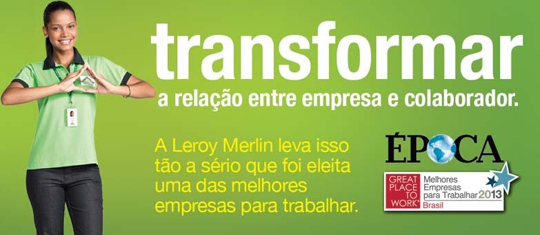 Leroy Merlin vagas de trabalho para jovens