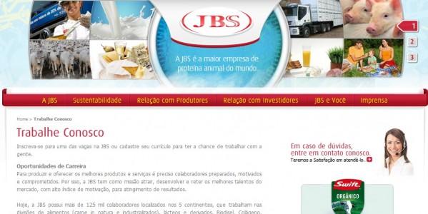 página jbs friboi trabalhe conosco