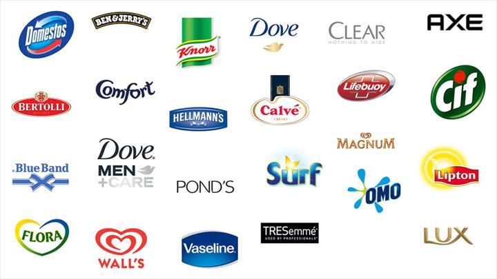 marcas que compoem o grupo da unilever